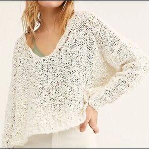 Free People Sunday Shore Sweater Ivory NWT